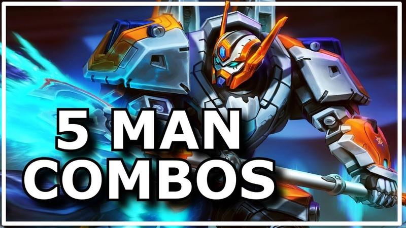 Smite Best of 5 Man Combos