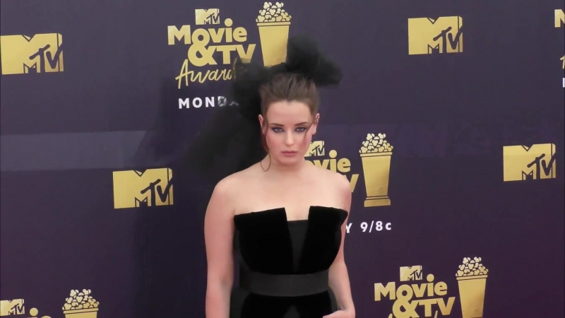 Katherine Langford at the 2018 MTV Movie And TV Awards at Barker Hangar in Santa Monica