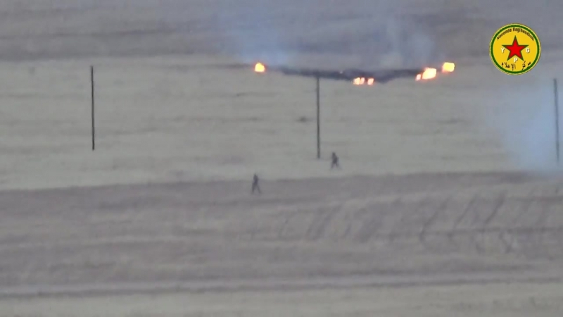 كوباني انظرو كيف داعش تهرب امام هول Кобане YPG YPJ