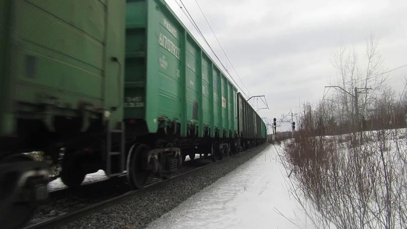 Электровоз ВЛ11М-280\224Б с грузовым поездом перегон Пожитково-Бекасово 1 16.03.2019