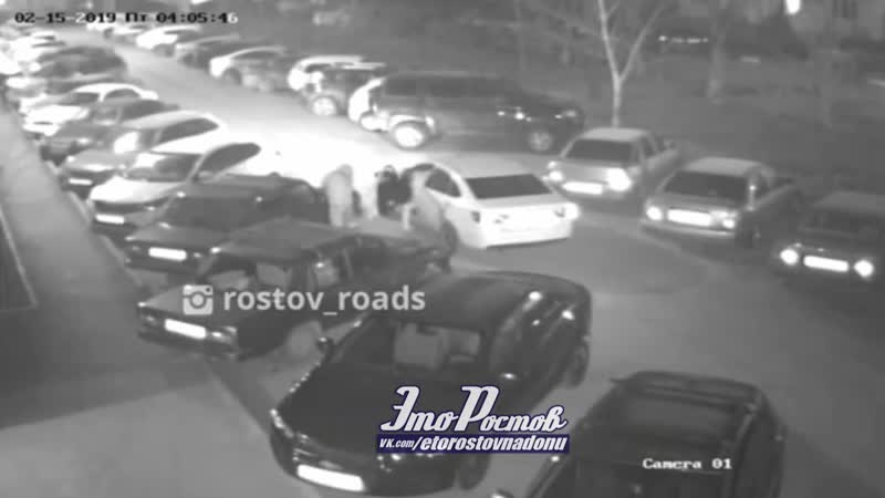Воры украли аккумулятор за 3 минуты и попали на камеру 18 02 19 Это Ростов на Дону
