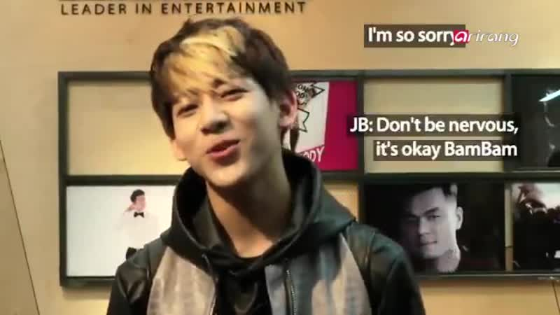 Remember this fetus bambam, he was encouraged by jaebeom bcs he was so nervous.. but seeing him now being a legend, young and ri