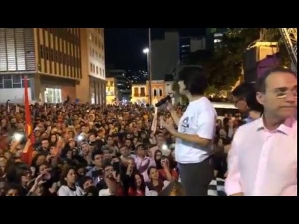 Grande ato Haddadpresidente em Florianópolis F. Haddad, Manuela e Décio Lima! 18.09.18