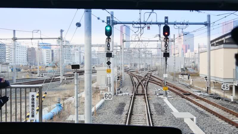 【4K前面展望】上野東京ライン(常磐線) 北行 品川~新橋~東京~上野