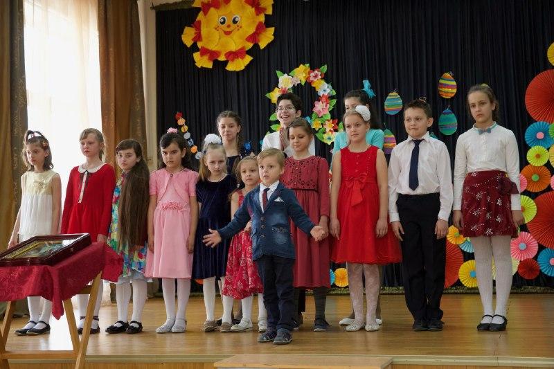 Учащиеся воскресной школы «Княжичи» в Текстильщиках дали пасхальный концерт