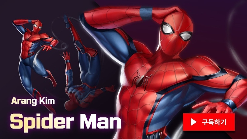 Speed Painting Spider Man Gwen 포토샵 스피드 페인팅 - 스파이더맨