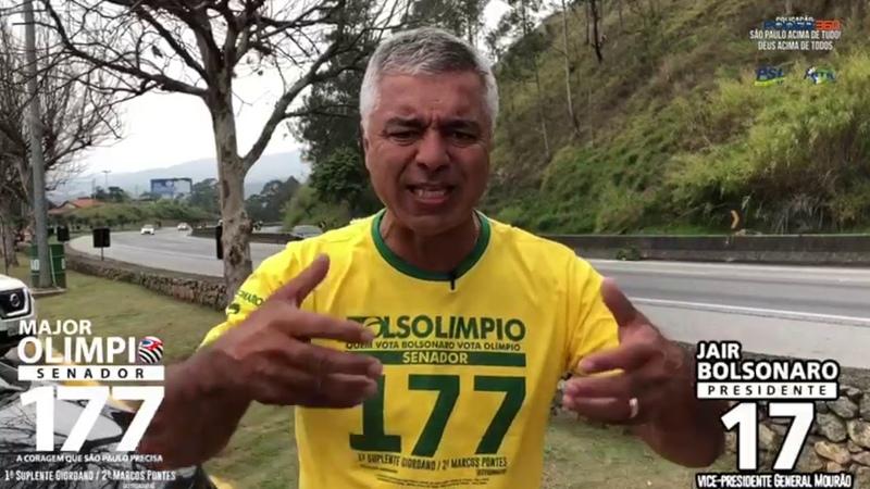 Major Olímpio (PSL) critica João Doria (PSDB) por propor voto BolsoDoria
