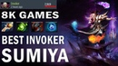 SumiYa Invoker 8k Games Сумия играет на Инвокере 8к игр Dota 2 TOP MMR