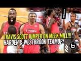 James Harden &amp Russell Westbrook TEAM UP VS Travis Scott &amp Demar DeRozan!