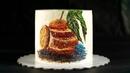 РИСУНОК НА ТОРТЕ КРЕМОМ Апельсиново шоколадный бисквитный торт Сборка и выравнивание