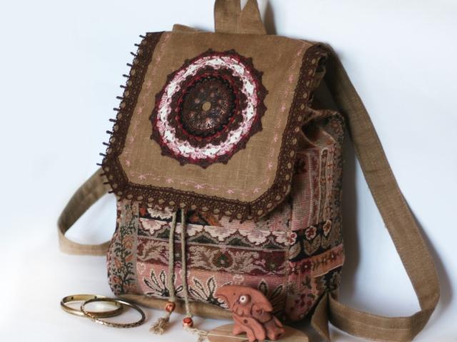 78565654abe1 Сумки в стиле Бохо своими руками: клатч, рюкзак, джинсовые, вязаные ...