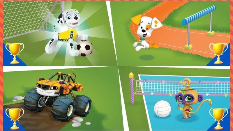 Cпортивные соревнования - Маршалл (Щенячий Патруль) Рык (Вспыш и Чудо машинки)