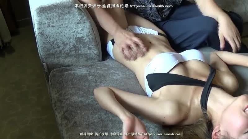 Sexy Chinese bikini girl feet tickle