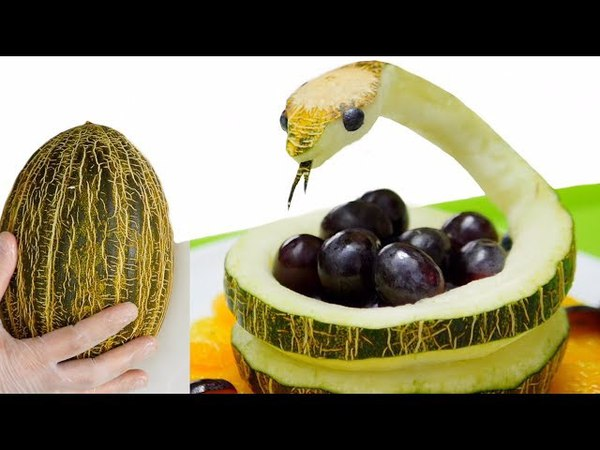SNAKE in MELON | How to make? | Carving Fruits