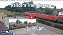 RailCam Train passes on Twin Cam 61