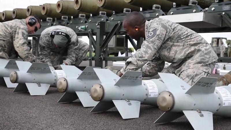 Munitions - bomb build at RAF Fairford ENG, UNITED KINGDOM 12.09.2018