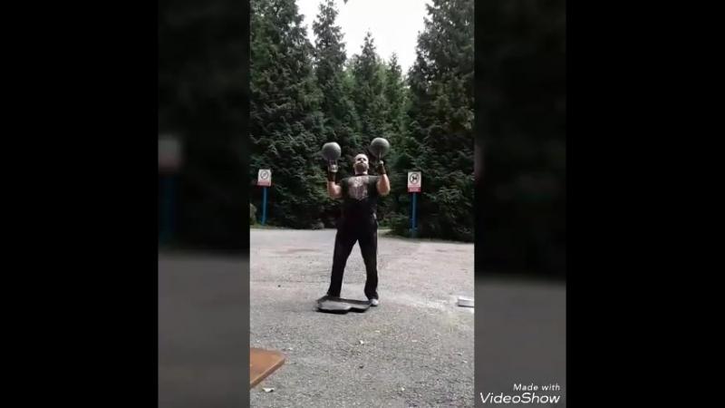 Турнир силачей Жим гирь по 16 kg вверх дном