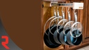 Wood Pull-Out Pot Rack