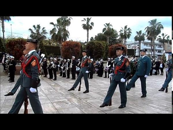 Jueves Santo 2019 ALHAURIN de la TORRE Homenaje a Guardia Civil HIMNO España 18 04