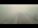 Поезд сквозь горящий лес в Забайкалье