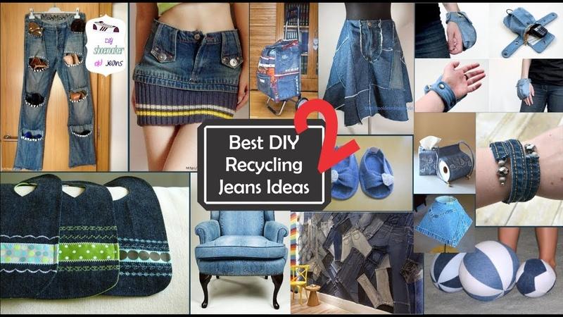 Ideas increíbles sobre Reciclar jeans viejos 2/Best DIY Recycling jeans ideas 2