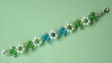 # DIY - Pulsera con rondeles azules y verdes # DIY - Bracelet with blue and green rondeles