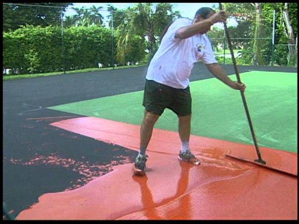 Tennis Court Restoration by Lancelot Industries