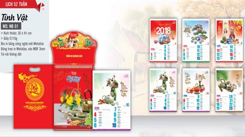 In lịch tết 2019   xưởng in lịch tết giá rẻ tại đà nẵng