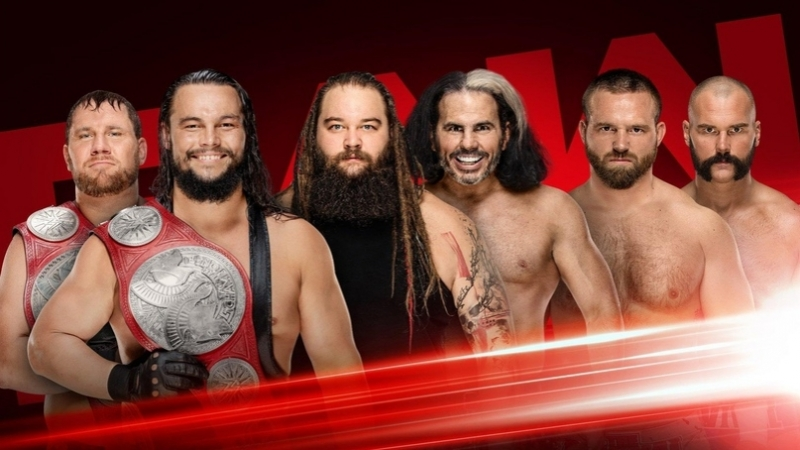 WWE Monday Night RAW 13 08 2018 The B Team vs The Deleters of Worlds vs The Revival