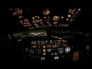 Ночной заход во внуково B-737NG