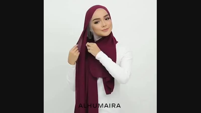 повседневный способ ношения хиджаба