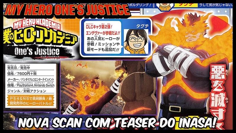 Boku no Hero One's Justice - Teaser do Inasa em nova scan!