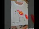 Работы детей на мастер классе по росписи футболок