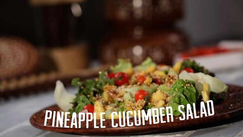 Pineapple Cucumber Salad IFN Quickies Roopa Nabar