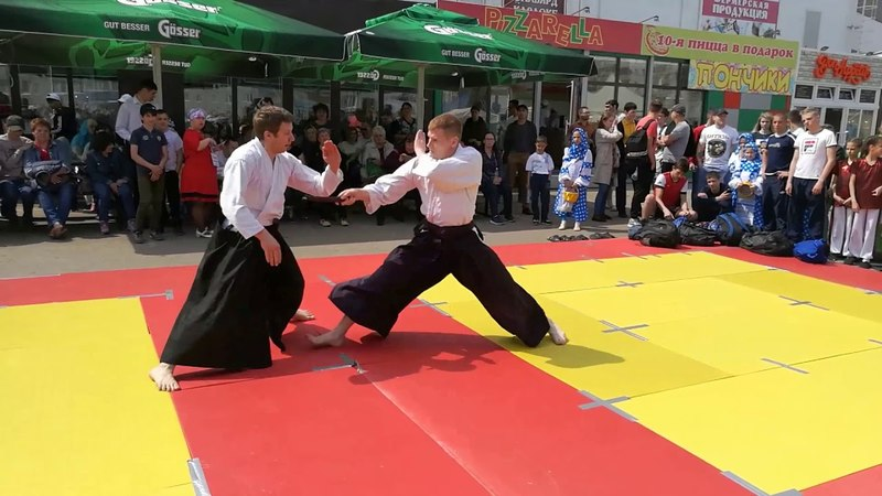 Aikido embu on festival of healthy life