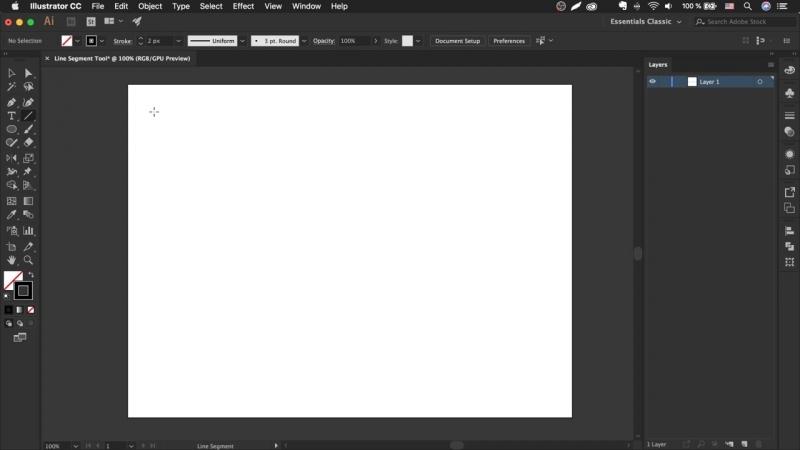 Как сделать линию в иллюстраторе - Line Segment Tool _ Урок Adobe Illustrator
