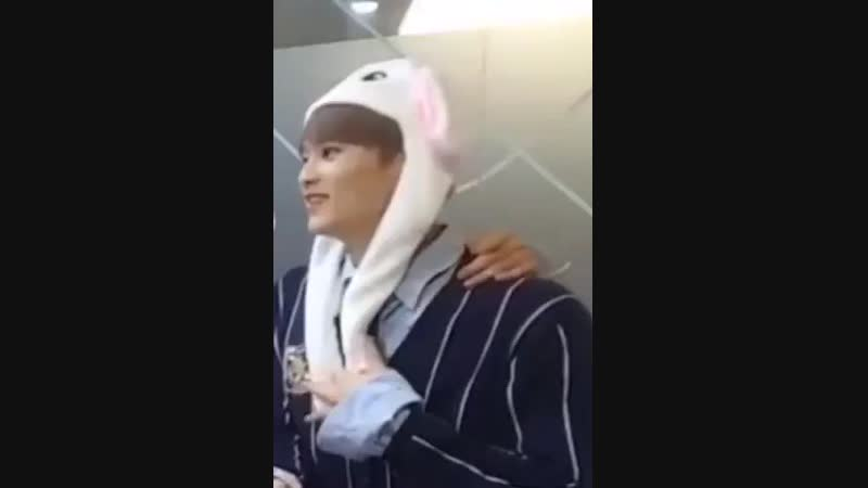 When he laughed his bunny ears immediately stood up