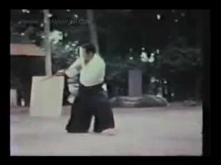 Saito Morihiro Sensei in Iwama 1979 weapons demonstrations