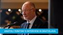 Interview by Anatoli Yunitski after the Award Ceremony of International Peace Prize from Slovakia