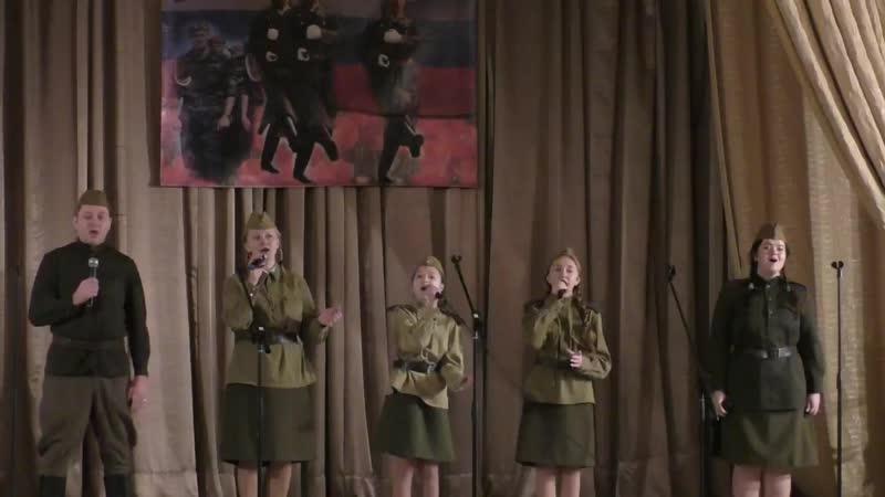 Фрагмент конкурсного концерта фестиваля Защитник Отечества ДК Октябрь 2.02.2019 г.