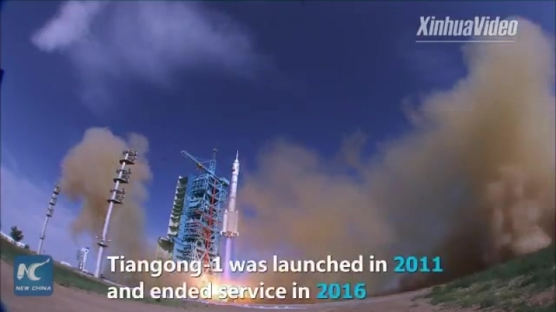 Chinas space lab Tiangong-1 re-enters Earths atmosphere and is burnt up over the central S