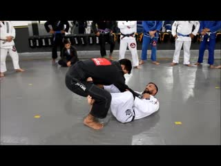 X-guard pull - sweep -armbar-kneebar