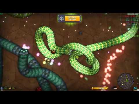 Большая змейка Ио видео - Little Big Snake Io геймплей слизарио вормикс вормейте