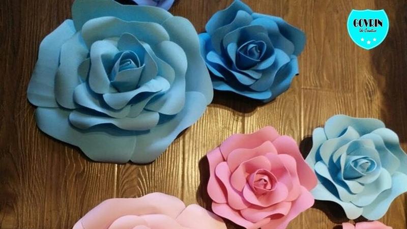 Ide kreatif membuat bunga mawar dari kertas diy handcraft