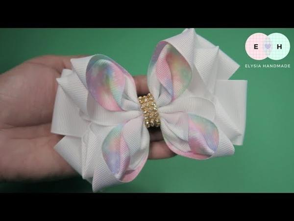 Laço de Fita 🎀 Flower Ribbon Bow Tutorial 🎀 DIY by Elysia Handmade