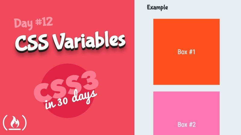 CSS Variables: CSS Tutorial (Day 12 of CSS3 in 30 Days)
