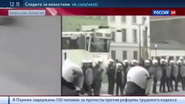 Новости на Россия 24 • В брюссельском Моленбеке журналистов атаковали в прямом эфире