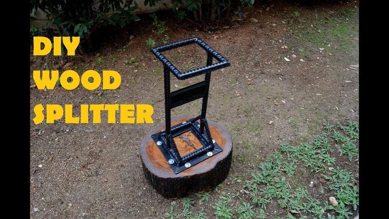 DIY Kindling Cracker Log Splitter from Rebar