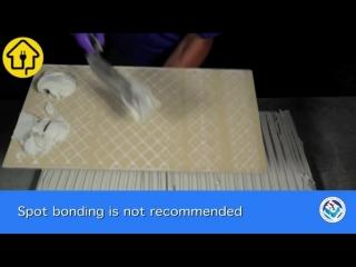 Правильное нанесение клея для плитки - на заметку