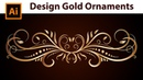 How to draw Gold Border Ornaments in Adobe Illustrator